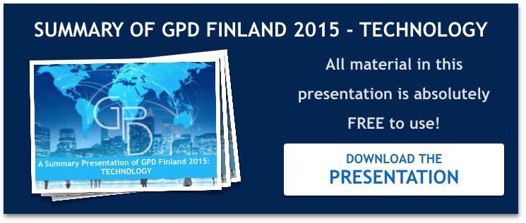 A summary of GPD 2015 technology presentations